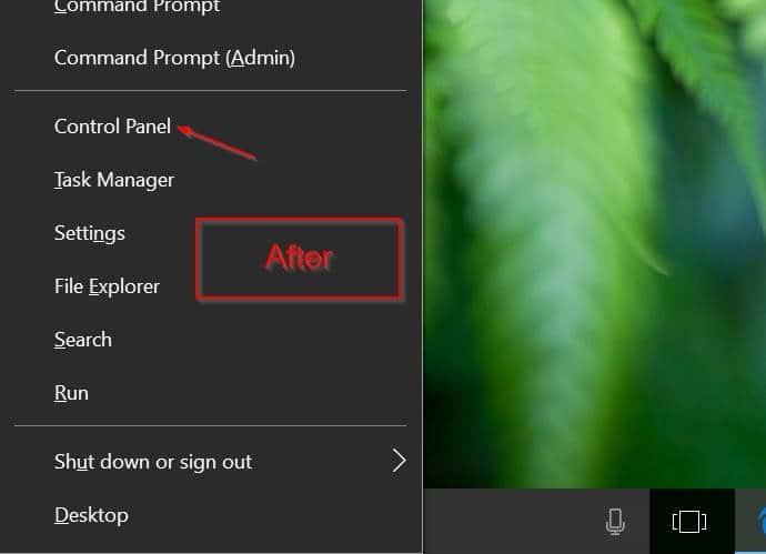 agregar panel de control para ganar x menú de usuario avanzado windows 10 pic2
