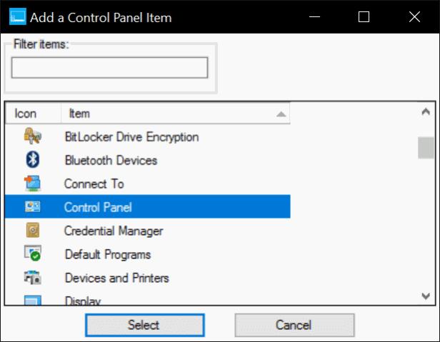 agregar Panel de control al menú Win X en Windows 10 pic2