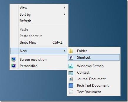 Mosaico de apagado de Windows 8 en la pantalla de inicio
