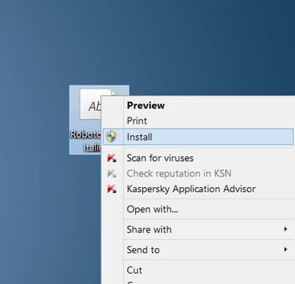 Use Google Fonts en Microsoft Office 2010 y 2013 paso 4