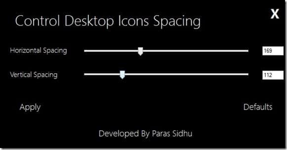 Cambiar el espaciado de los iconos del escritorio