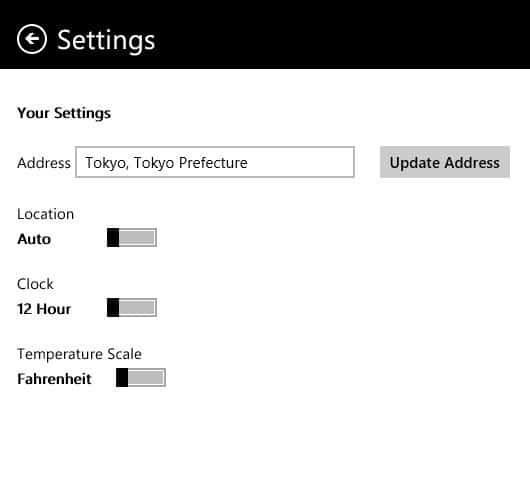 Reloj y clima en Windows 8 Pantalla de inicio
