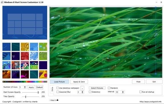Personalizador de pantalla de inicio