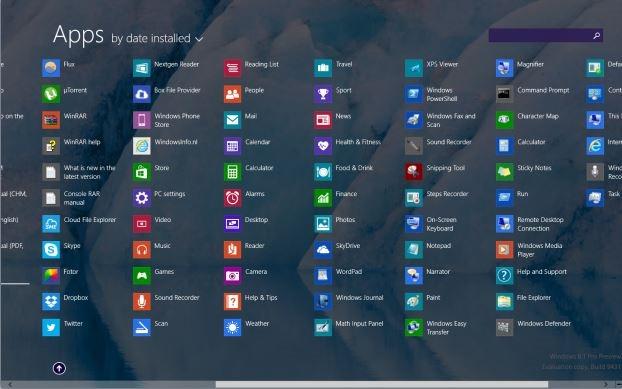 anclar aplicaciones a la pantalla de inicio de Windows 8.1