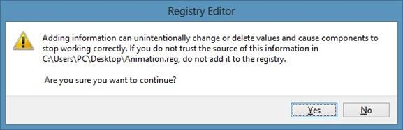 Habilite la animación oculta de la pantalla de inicio en Windows 8 Paso 1