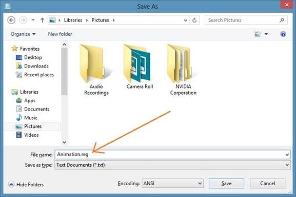 Habilitar la animación oculta de la pantalla de inicio en Windows 8