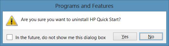 Desinstale HP Quick Start en Windows Picture2