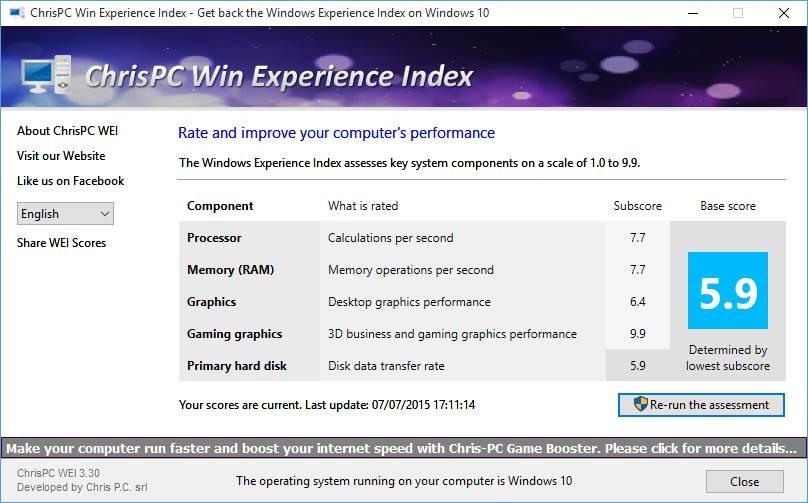 Obtenga el índice de experiencia de Windows en Windows 10 pic3