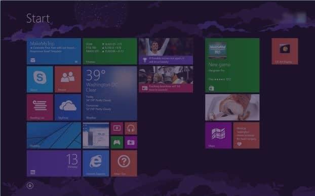 Hacer que la pantalla de inicio sea transparente en Windows 8.1