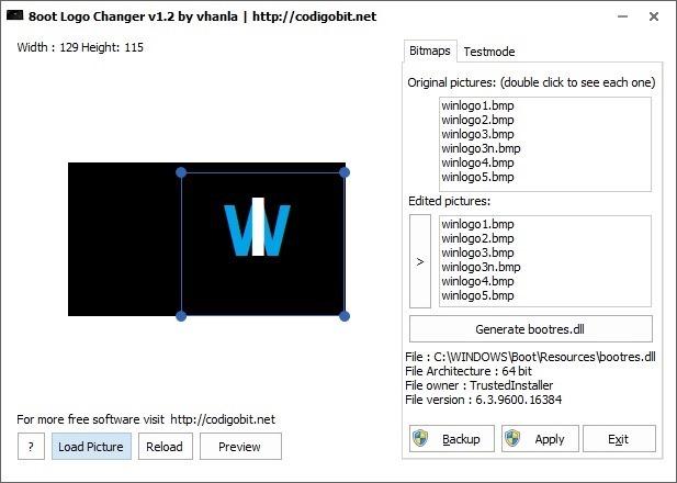 Cambiador de logotipo de la pantalla de inicio de Windows 8.1