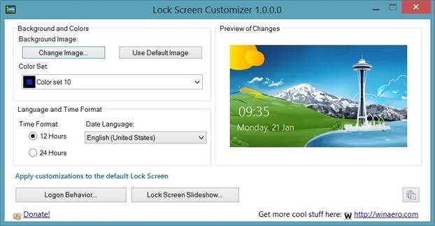 Personalizador de pantalla de bloqueo