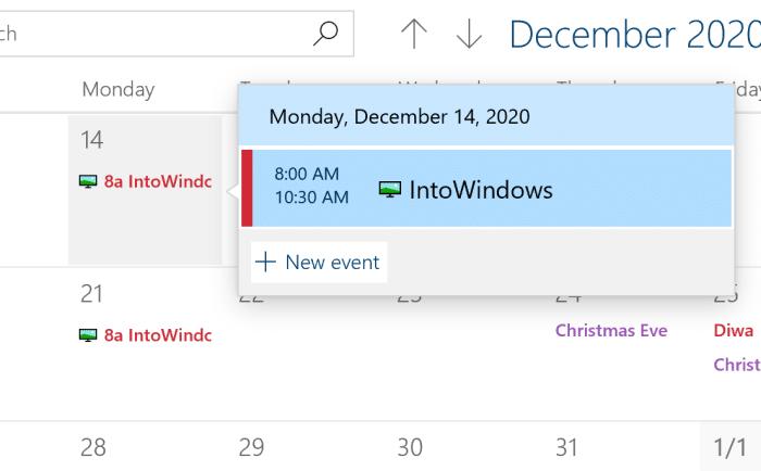 agregar o eliminar recordatorios en el calendario de Windows 10 pic9