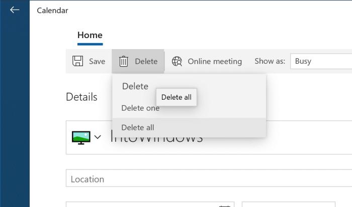 agregar o eliminar recordatorios en el calendario de Windows 10 pic11