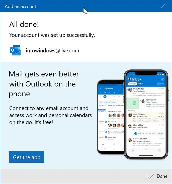 reorganizar las cuentas de correo electrónico en la aplicación de correo de Windows 10 pic9