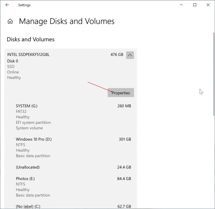 comprobar el estado y temperatura de SSD en Windows 10 pic2