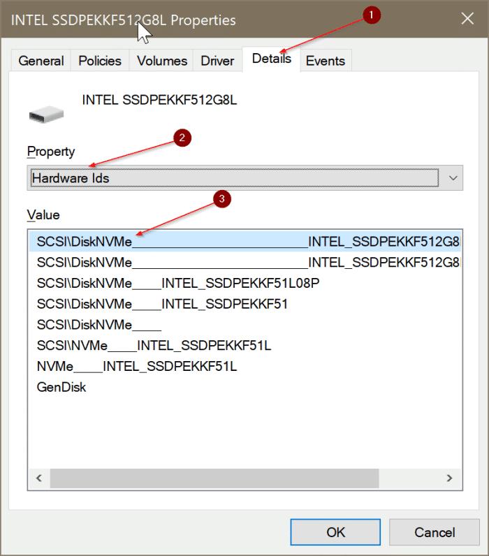 compruebe si su PC tiene SSD NVMe o SSD SATA en Windows 10 pic3
