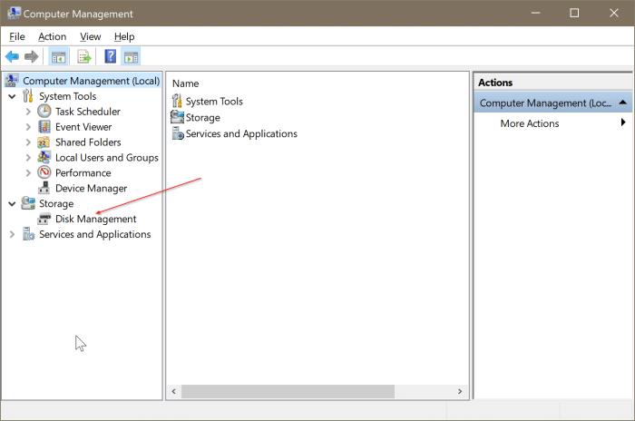 gestión de disco abierto en Windows 10 pic6