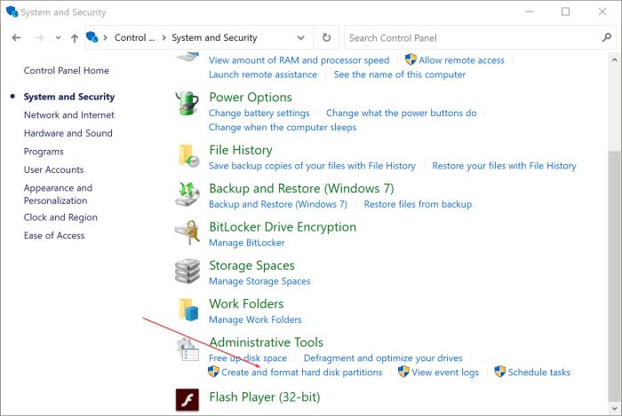 gestión de disco abierto en Windows 10 pic4