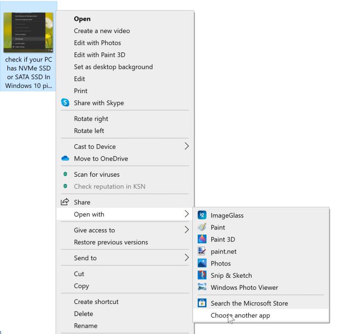 Falta la opción de vista previa en el menú contextual de Windows 10 pic5