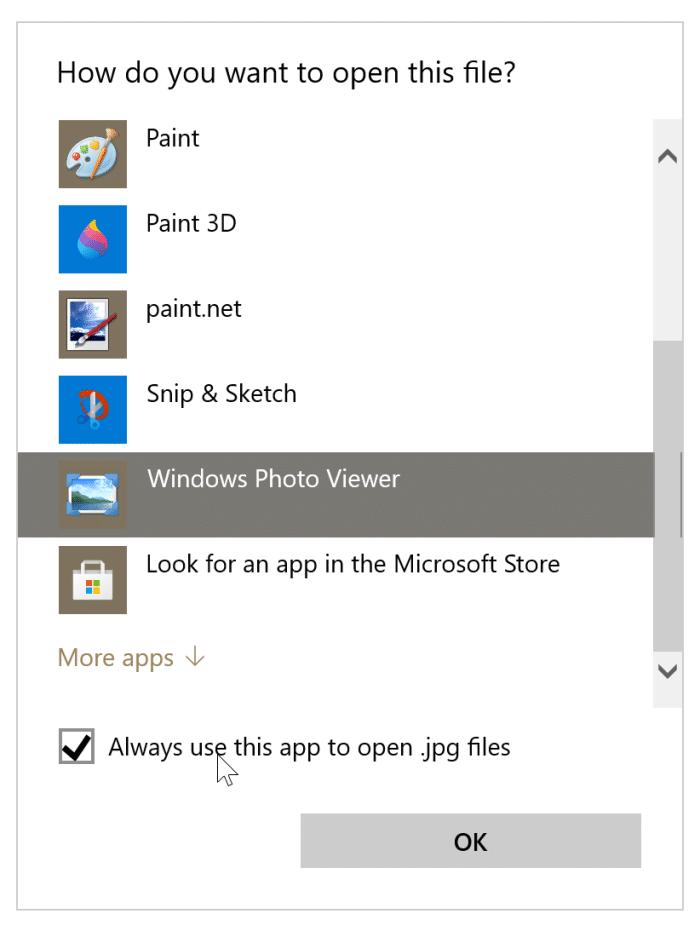 Falta la opción de vista previa en el menú contextual de Windows 10 pic3
