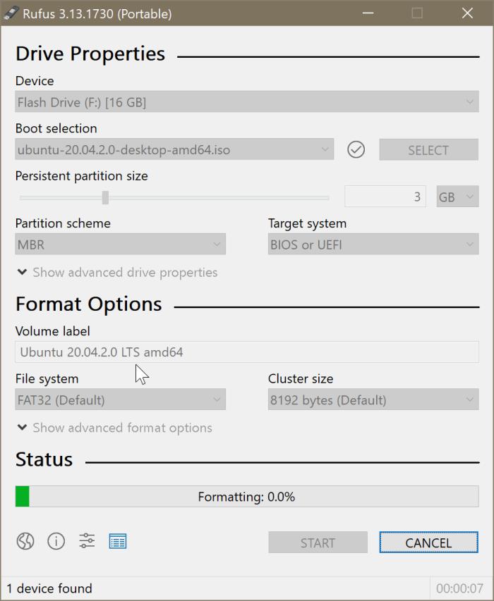 crear Ubuntu Live USB en Windows 10 PC pic3