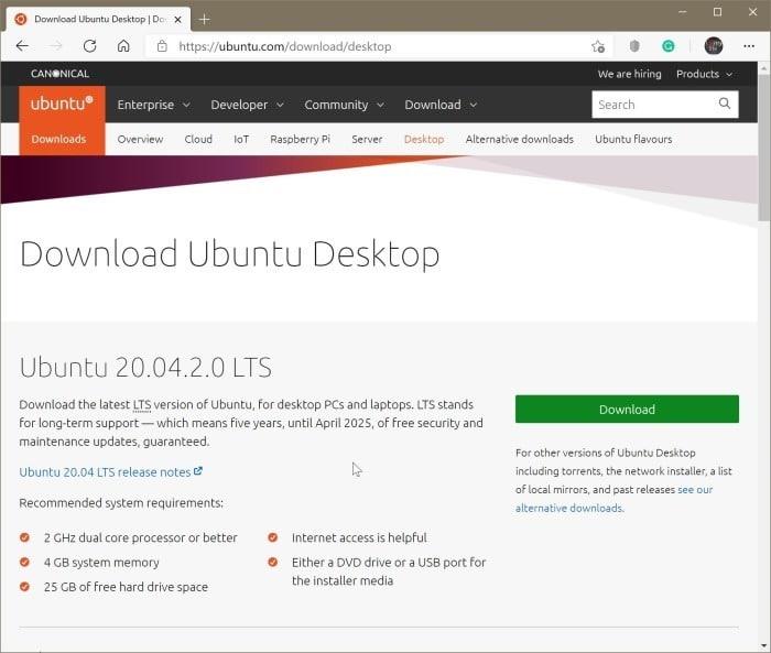crear Ubuntu Live USB en Windows 10 PC pic01