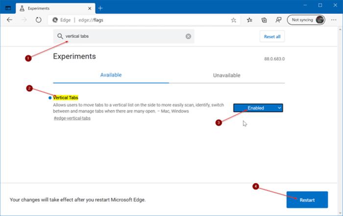 Pestañas verticales de Microsoft Edge pic3