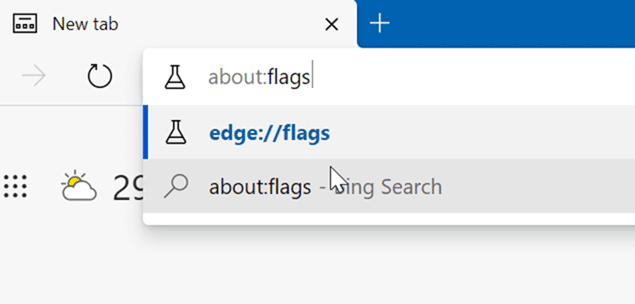 Pestañas verticales de Microsoft Edge pic1