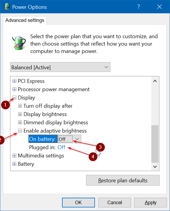 el brillo de la pantalla no aumenta en Windows 10 pic4