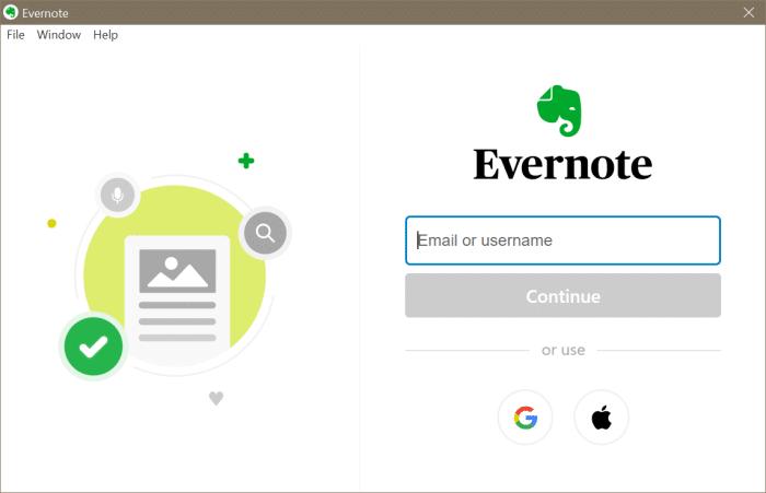 Evernote no se abre o no funciona en Windows 10 pic6