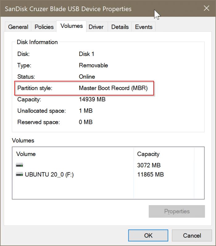 compruebe si un disco es GPT o MBR en Windows 10 pic4
