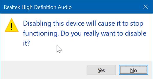 deshabilitar el altavoz del portátil en Windows 10 pic6