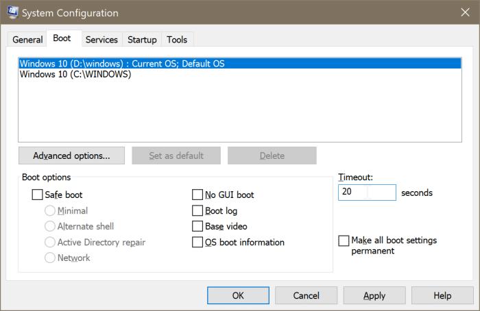 restaurar el menú de arranque dual que falta en Windows 10 pic4