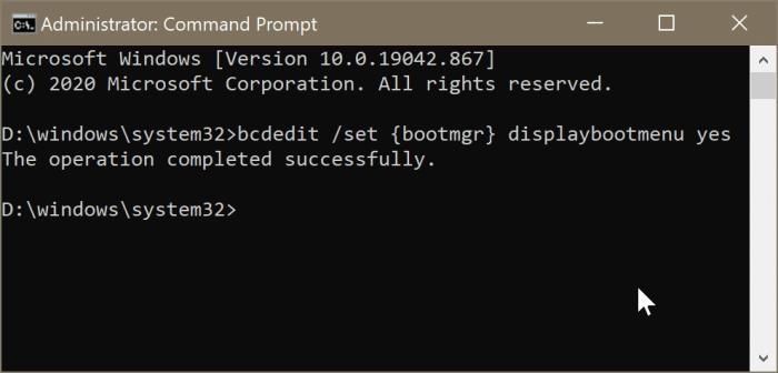 restaurar el menú de arranque dual que falta en Windows 10 pic2