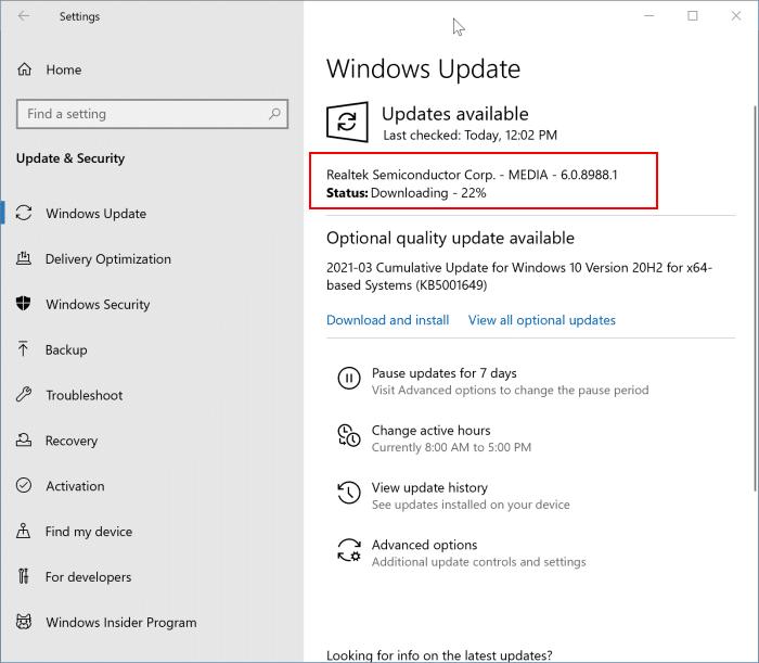 reinstale el controlador de sonido en Windows 10 pic9