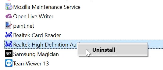 reinstale el controlador de audio en Windows 10 pic7