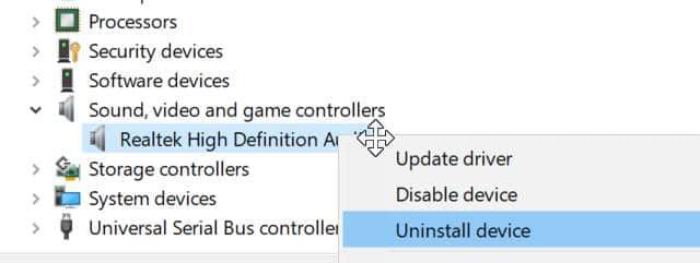 Reinstale el controlador de audio de Windows 10 pic2