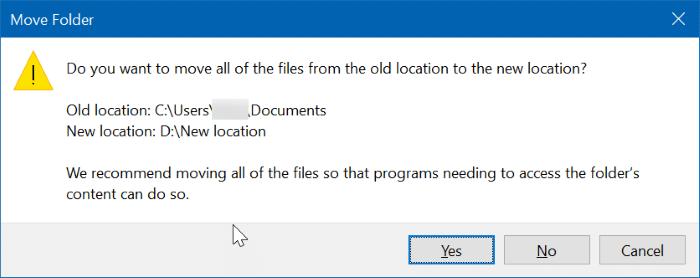 cambiar la ubicación de los documentos escaneados en Windows 10 pic05