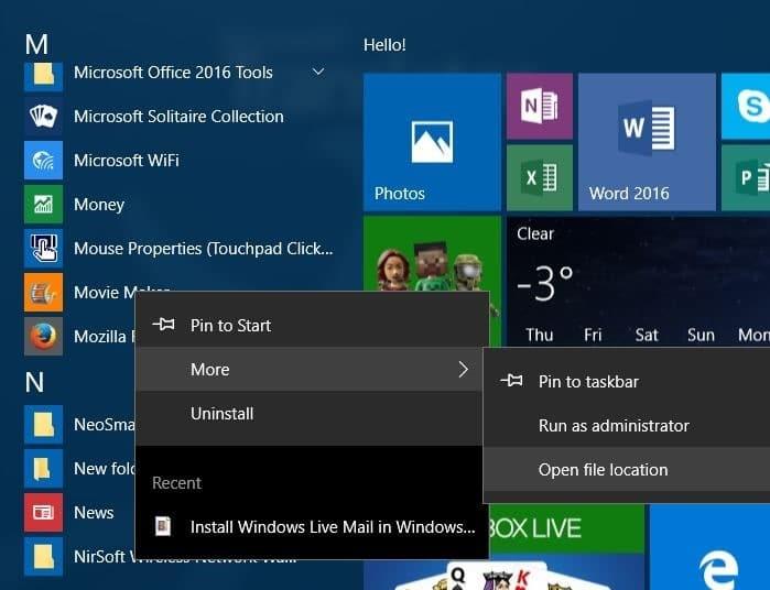 crear un acceso directo en el escritorio para programar en Windows 10 paso 4