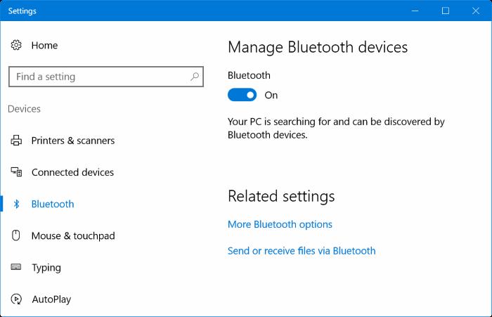 Emparejar el iPhone con Windows 10 a través de Bluetooth (01)