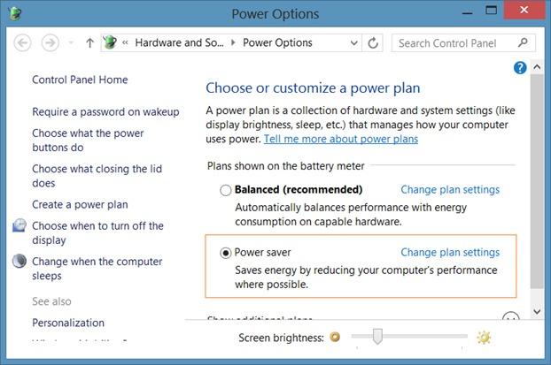 Deshabilitar el brillo automático en Windows 8.1 Step2