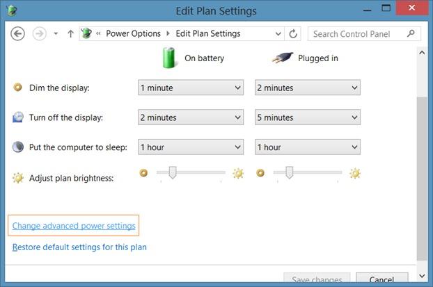 Deshabilitar el brillo automático en Windows 8.1 Step3