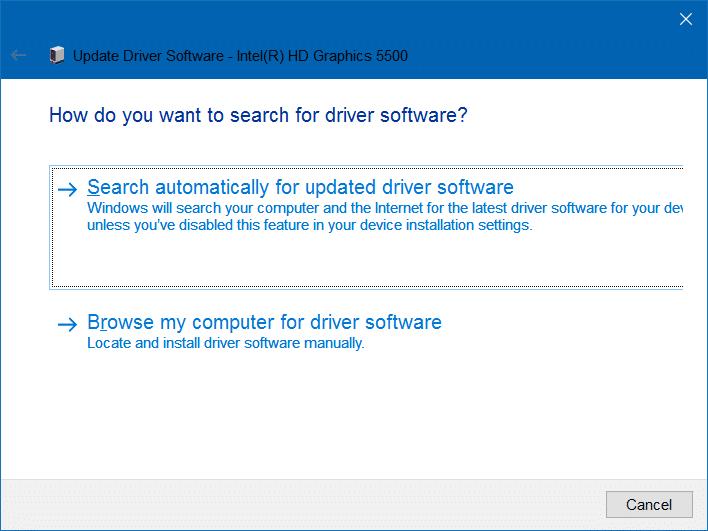 no se puede ajustar el brillo en Windows 10 paso 3