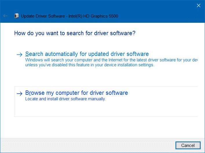 no se puede ajustar el brillo en Windows 10 paso 5