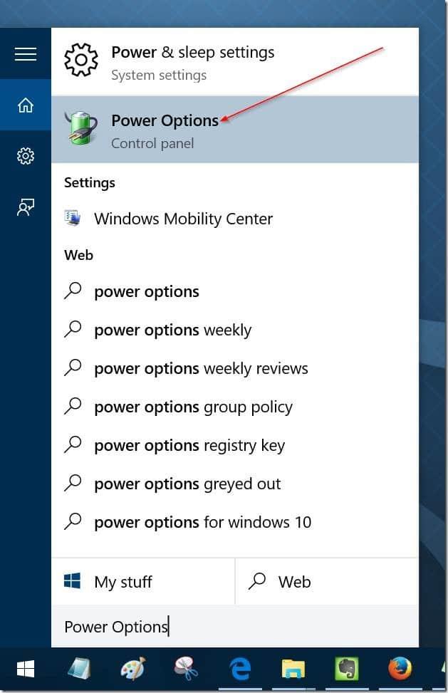 habilitar o deshabilitar el modo de suspensión en Windows 10 pic6