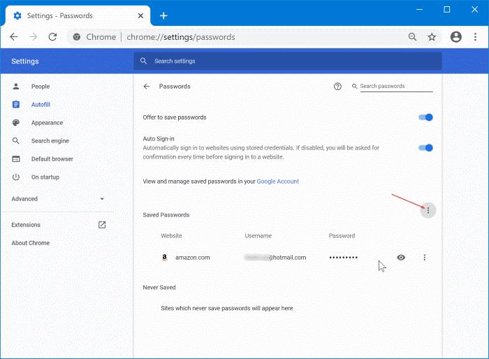 importar contraseñas en Chrome desde el archivo CSV pic2