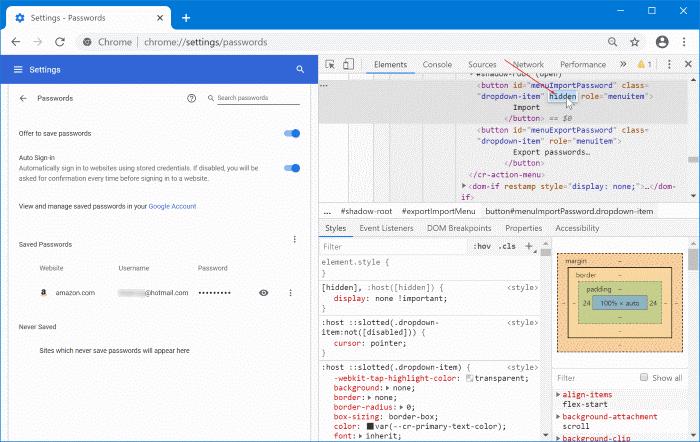 importar contraseñas en Chrome desde el archivo CSV pic5