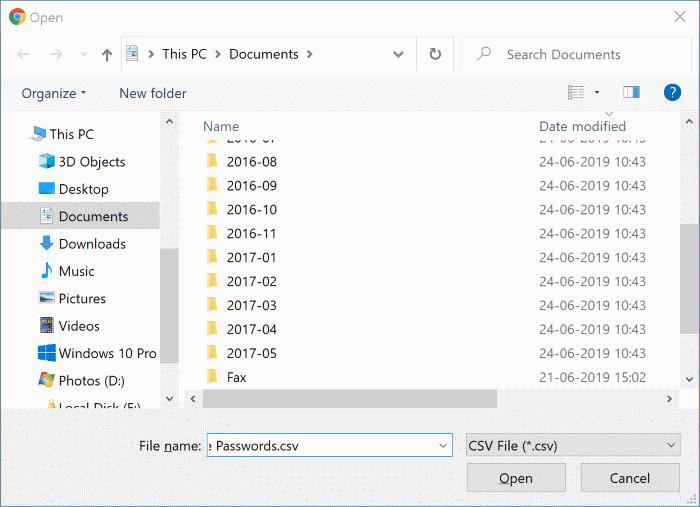 importar contraseñas en Chrome desde el archivo CSV pic8