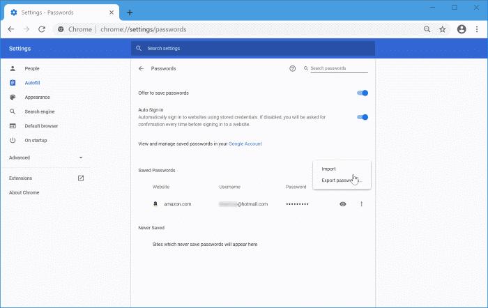 importar contraseñas en Chrome desde el archivo CSV pic7