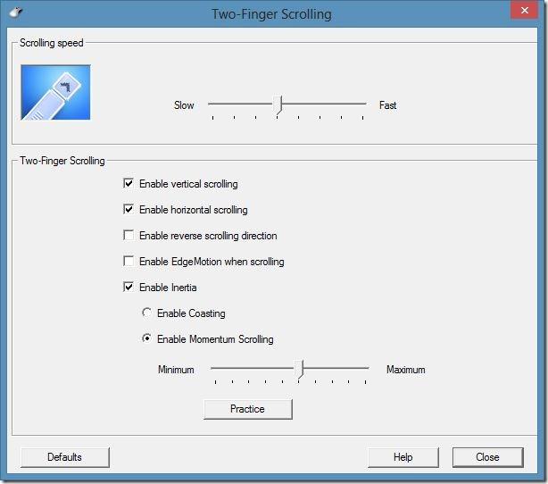 Desplazamiento con dos dedos en Windows 8 Step5